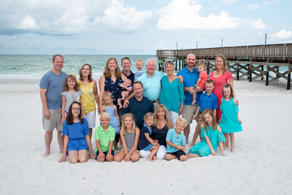 We did a portrait session for this lovely family down at Indian Shores.  It turned out to be a beautiful morning at the beach! Several generations here!  Great day!