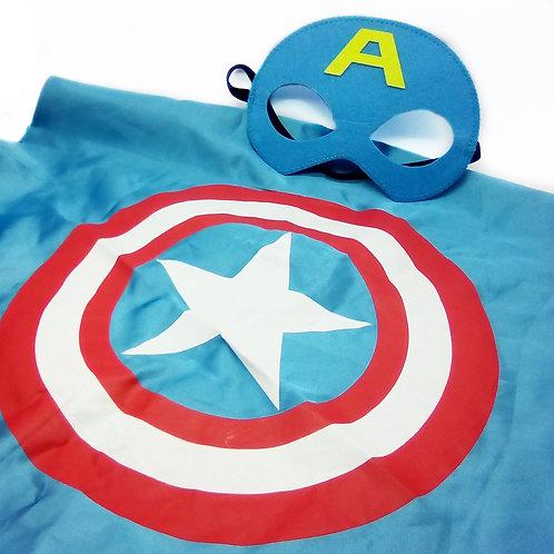 Mantello e maschera Capitan America