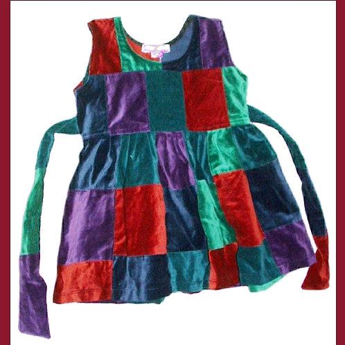 Cotton Velvet Patchwork Dress