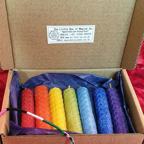 Rainbow Chakra Candles