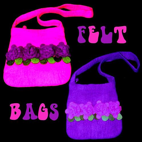 Felted Rose Bag