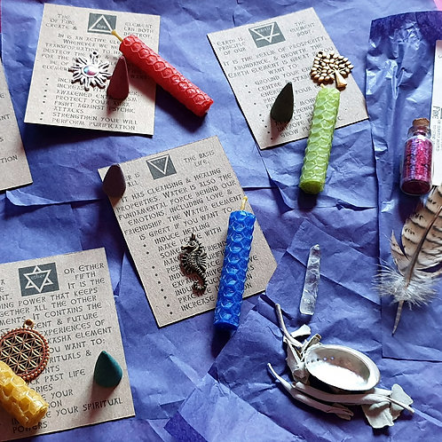 The Little Box of Magick Spell Kit Fairy Fun Elemental Magick Witches Box DELUXE