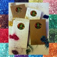 biodegradable eco glitter elf recycled paper enveloper hand made