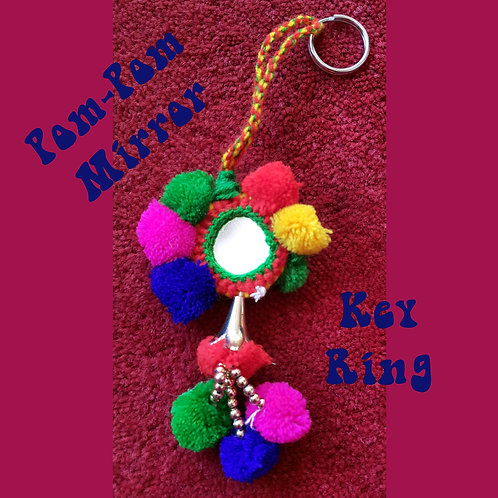 Pom Pom Key Bling-ring