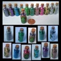 biodegrable vegan glitter fairy glass bottle