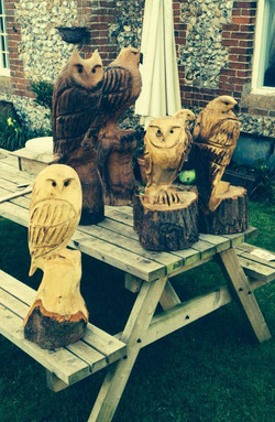 Chainsaw carvings, Norfolk