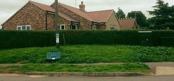 Hedge cutting, Castle Acre, Norfolk