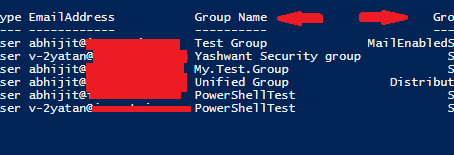 How to get List of Groups in Office 365 and its Members in a consolidated output using Powershell