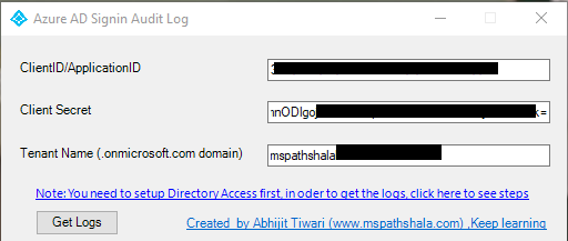 Azure AD Sign in logs