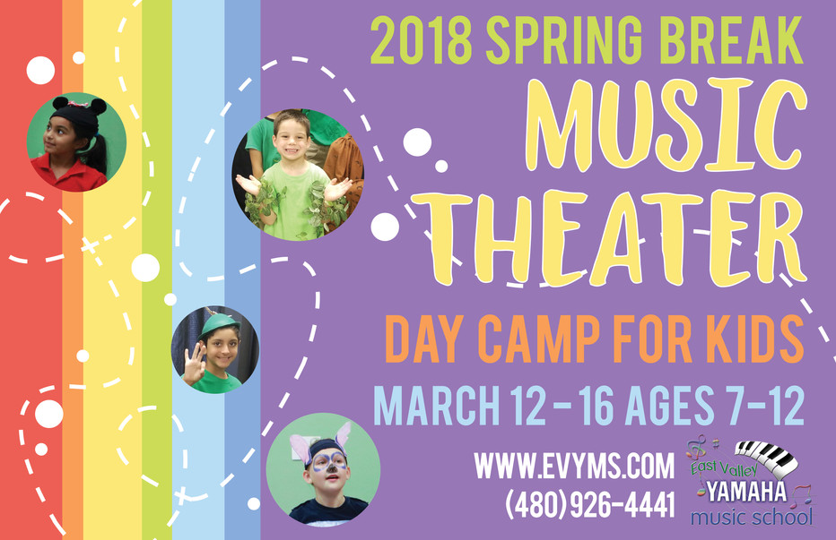 Spring Break Music Theater Camp Available Now!