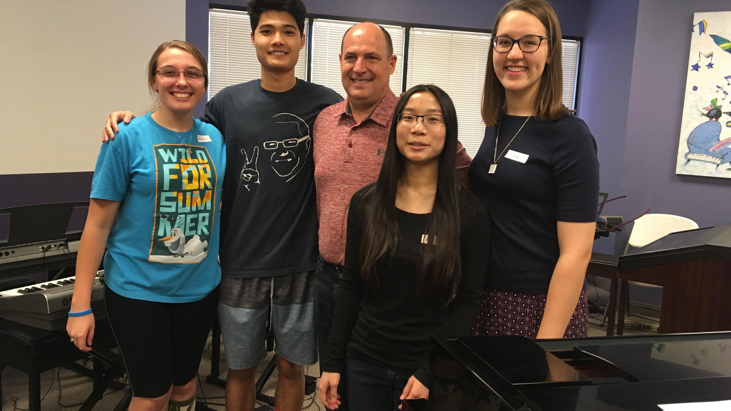 Phillip Keveren Improvisation Camp with students