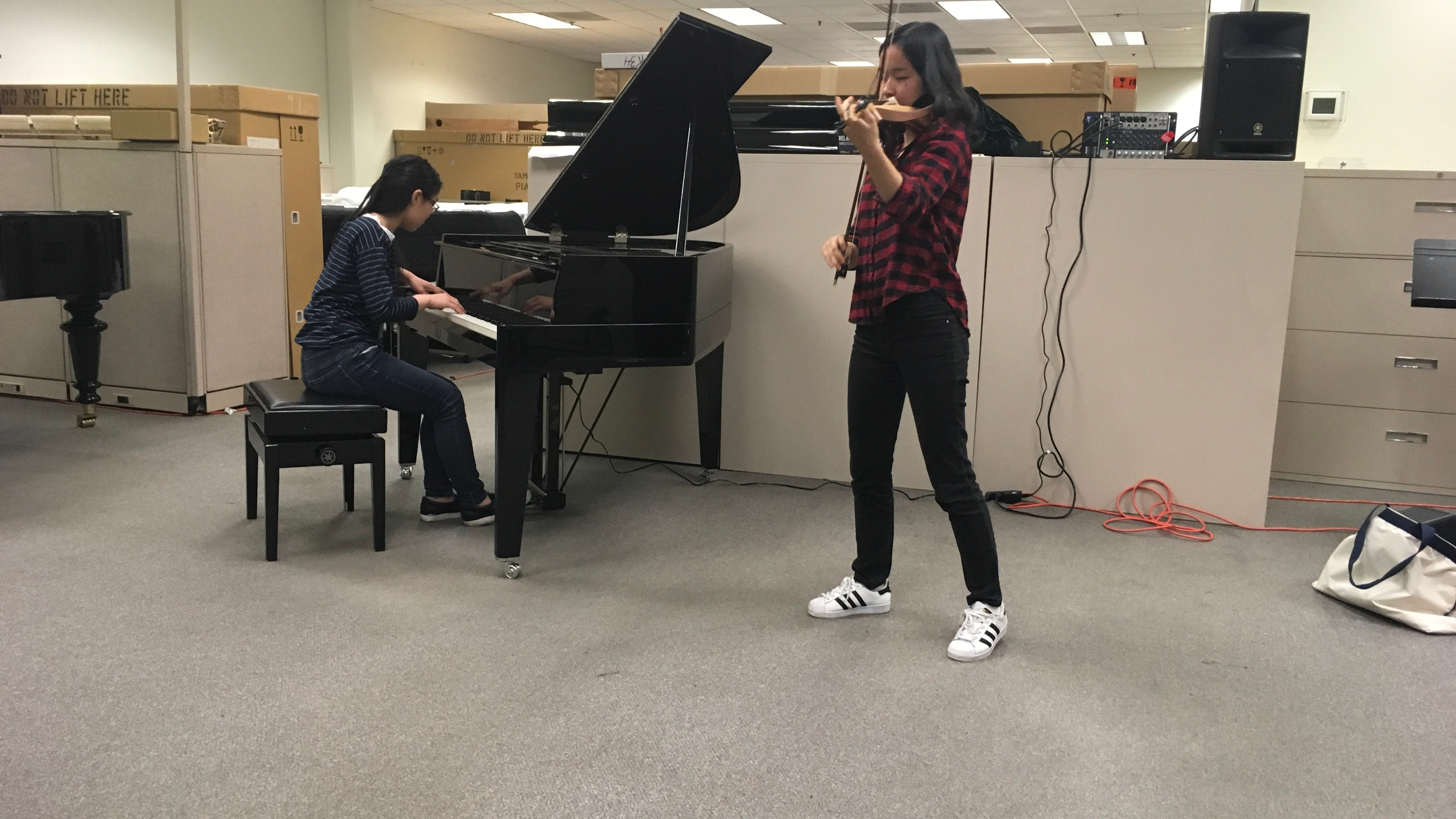 Practice time at NAMM 2018