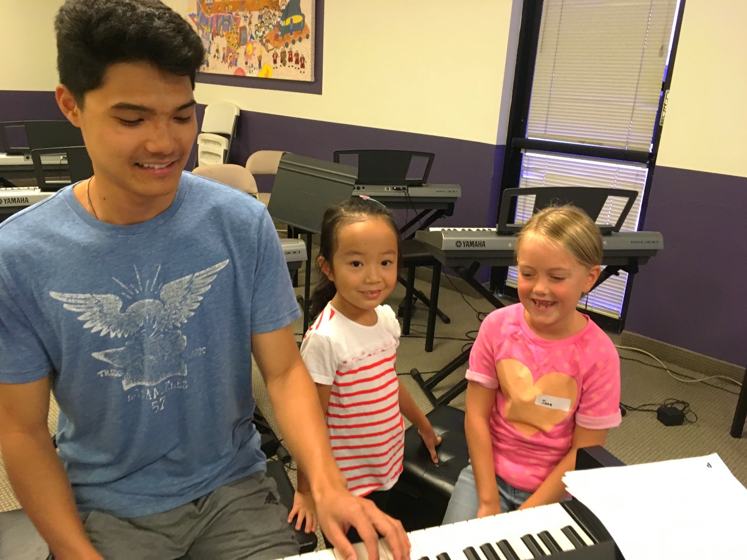 EVYMS Summer Camp 2017 Playing Piano