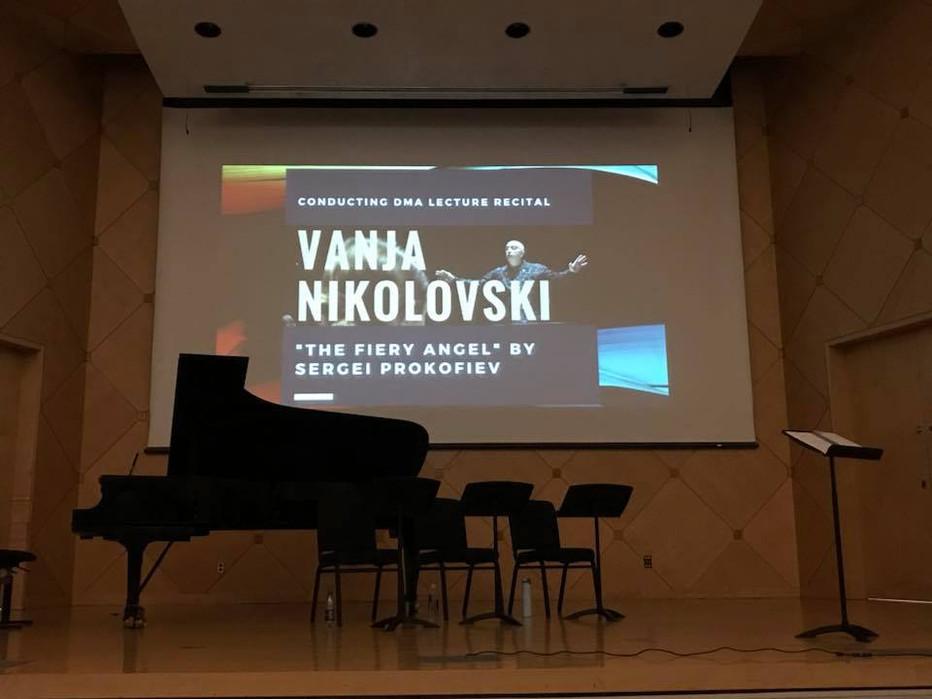 Vanja Nikolovski Performs DMA Lecture Recital