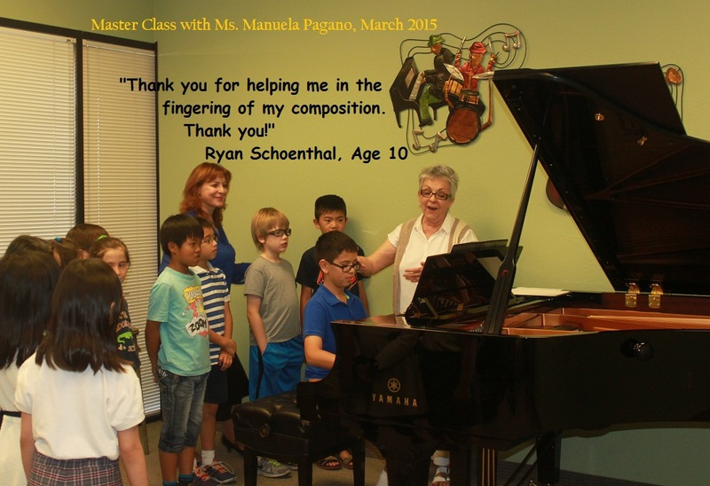 Singing and piano with the YCA Club