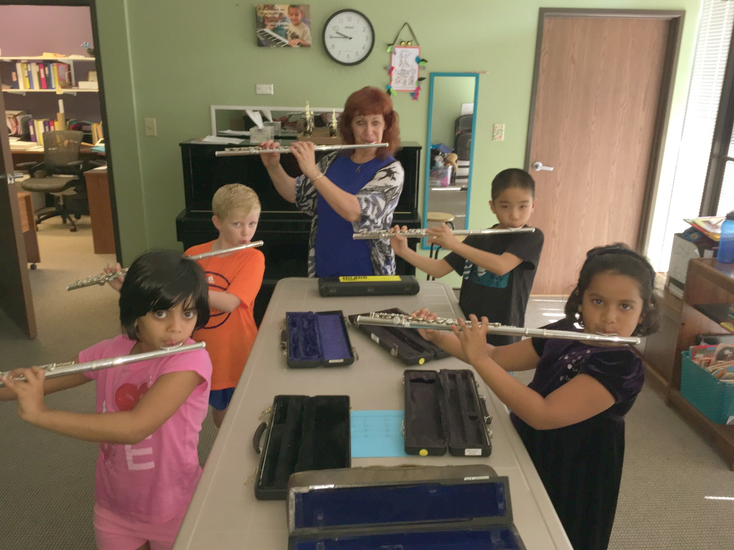 Summer Camp 2017 Playing Flute