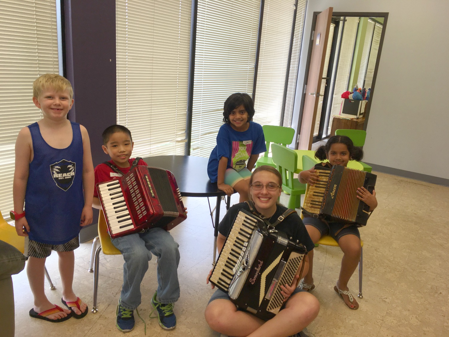 Summer Camp 2017 Playing Accordion