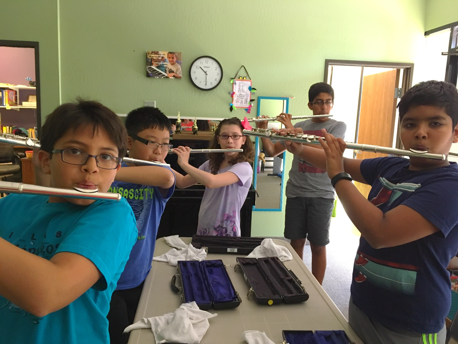 EVYMS Summer Camp 2017 Playing Flute