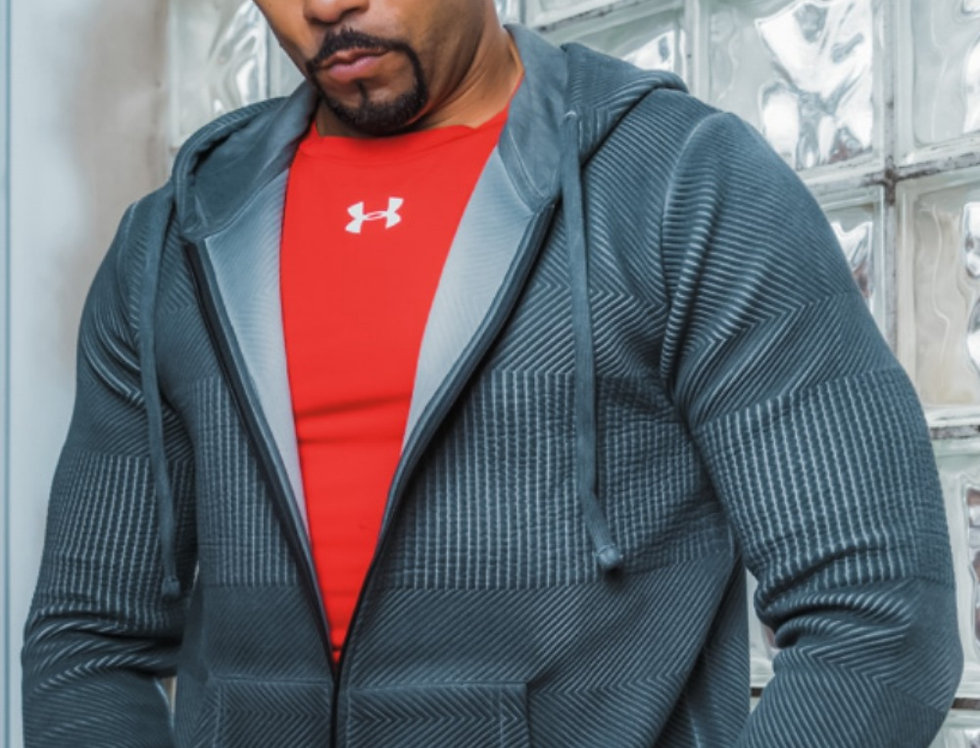 Hoodie Jacket with Special Textured Fabric