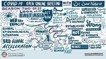 Dr Nabarro Covid Online Briefing remote scribing ipad drawing live illustration