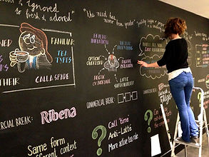sally pring london chalkboard artist pitch illustration lettering
