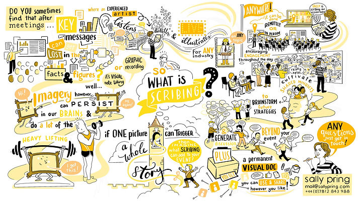 sally pring scribing live illustration what is scribing