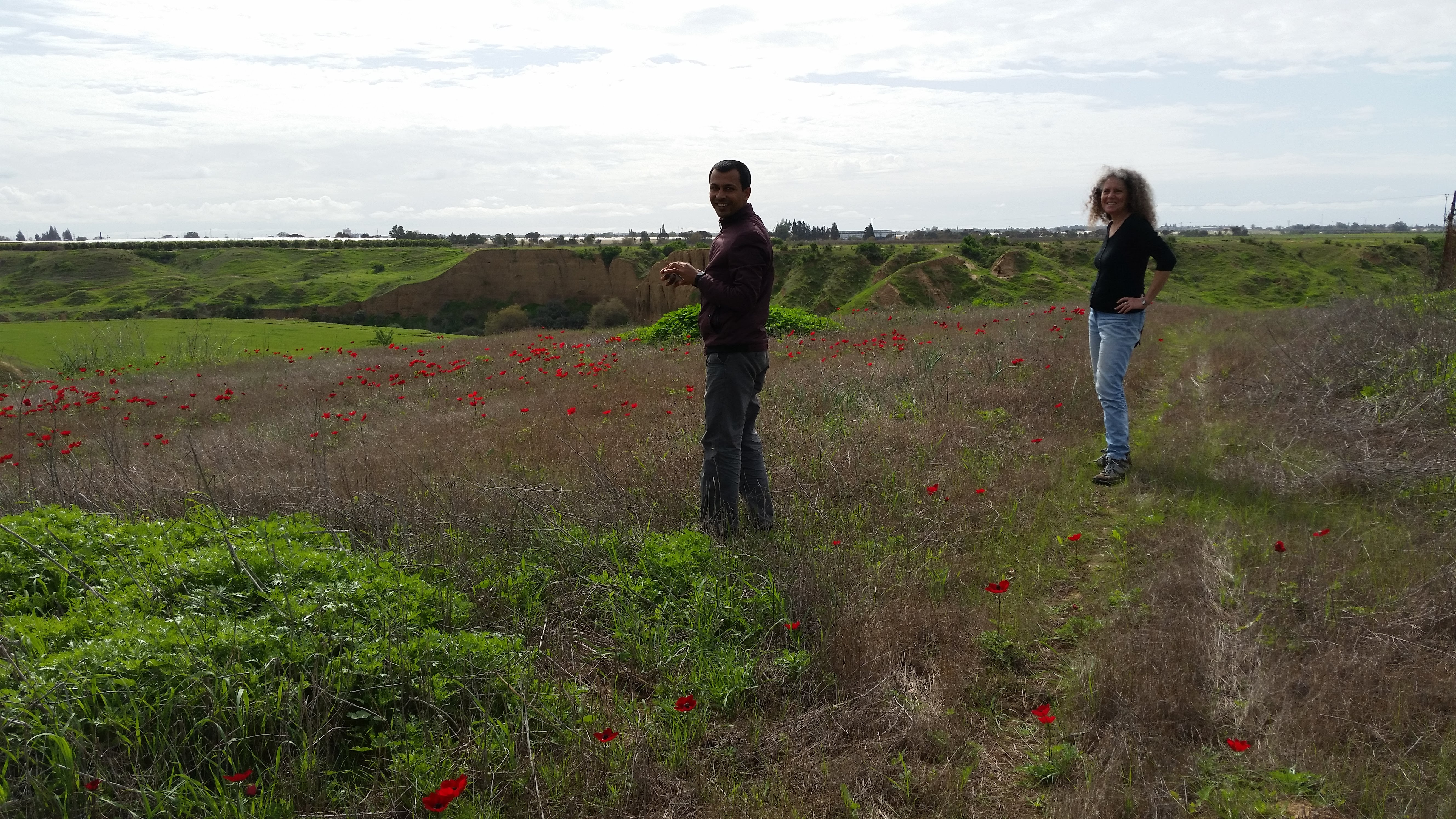 Rotem and Anil in Migda's Red south