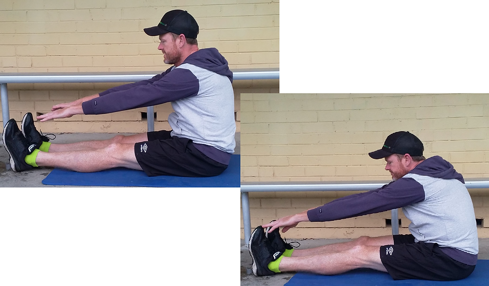 Touching toes at Belrose personal training