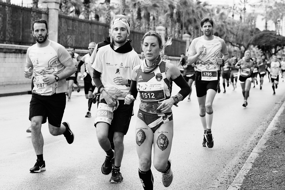 people over 40 running in an endurance event