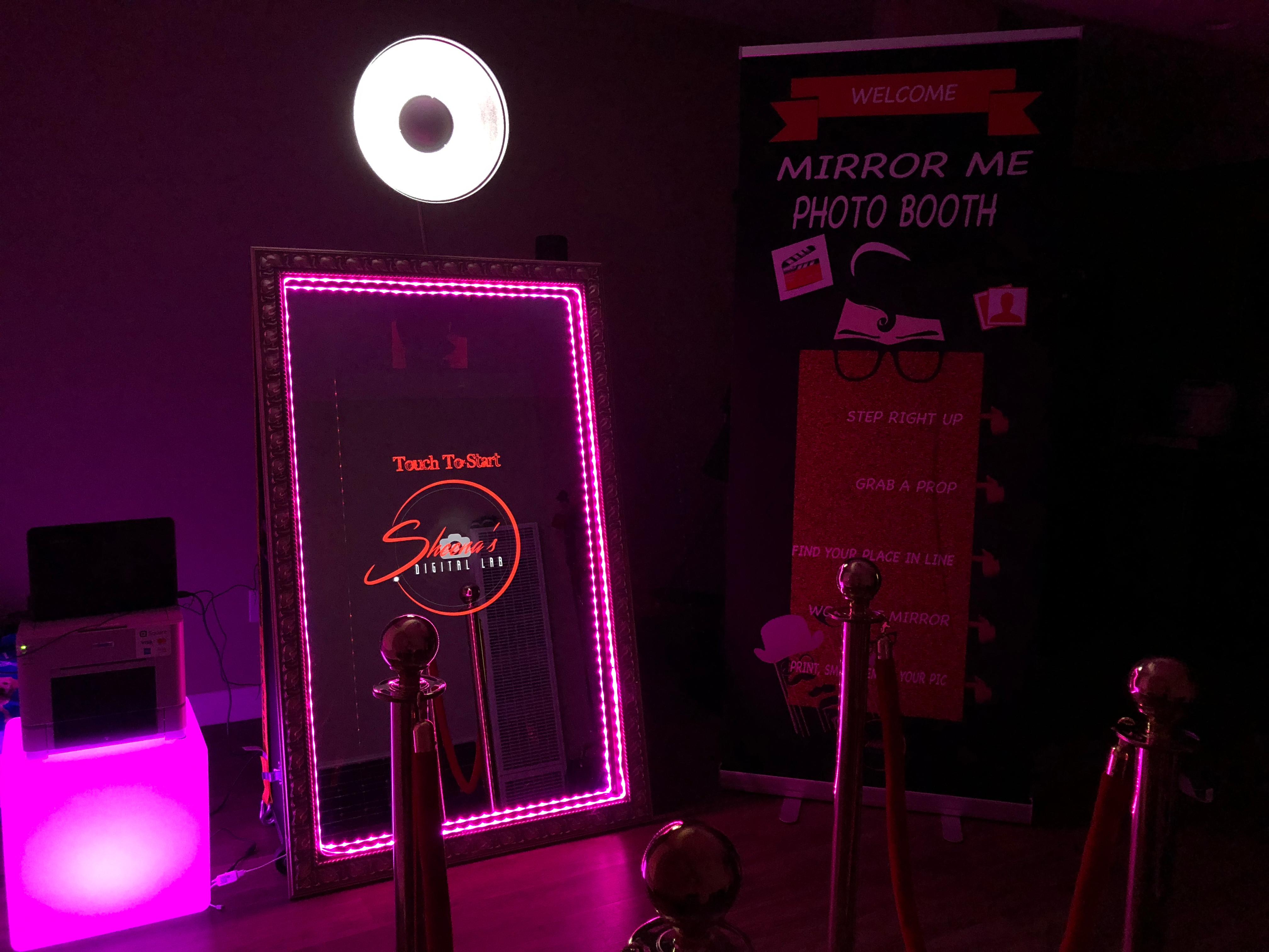 $550 Mirror Me Photo Booth Rental