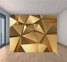 GOLDEN GEOMETRIC BACKDROP