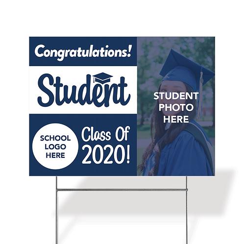 Graduation Yard Sign w/Photo