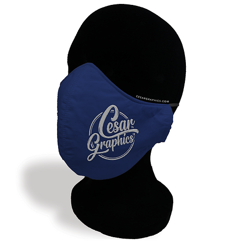 CesarGraphics Logo Face Mask - Navy