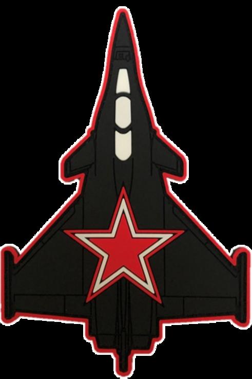Rafale étoile rouge PVC