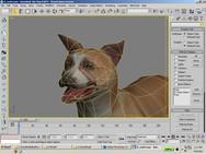 low poly dog model