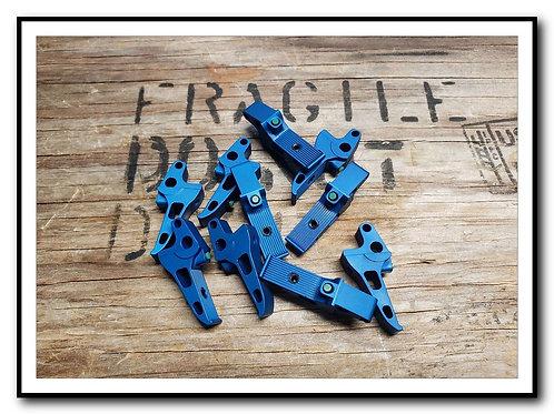 "BLUE ""Flat"" Sig P220 P224 P226 P227 P228 P229 M11A1 Dual Adjustable Trigg"