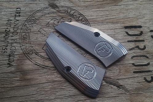 CZ 75 Aluminum Grips - SHORT - TITANIUM color