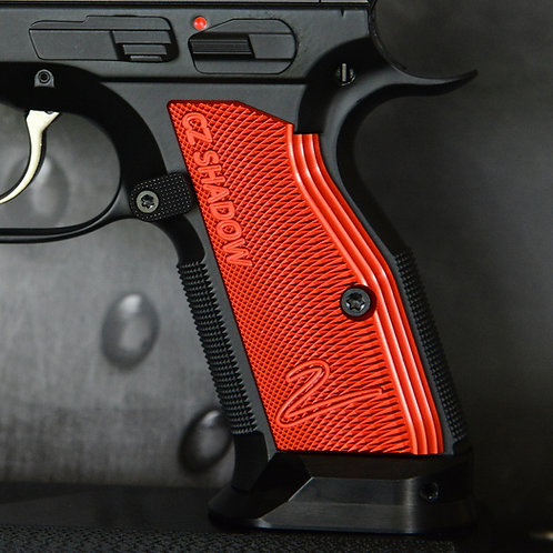 CZ 75 Aluminum Grips - Shadow 2 - SHORT - RED