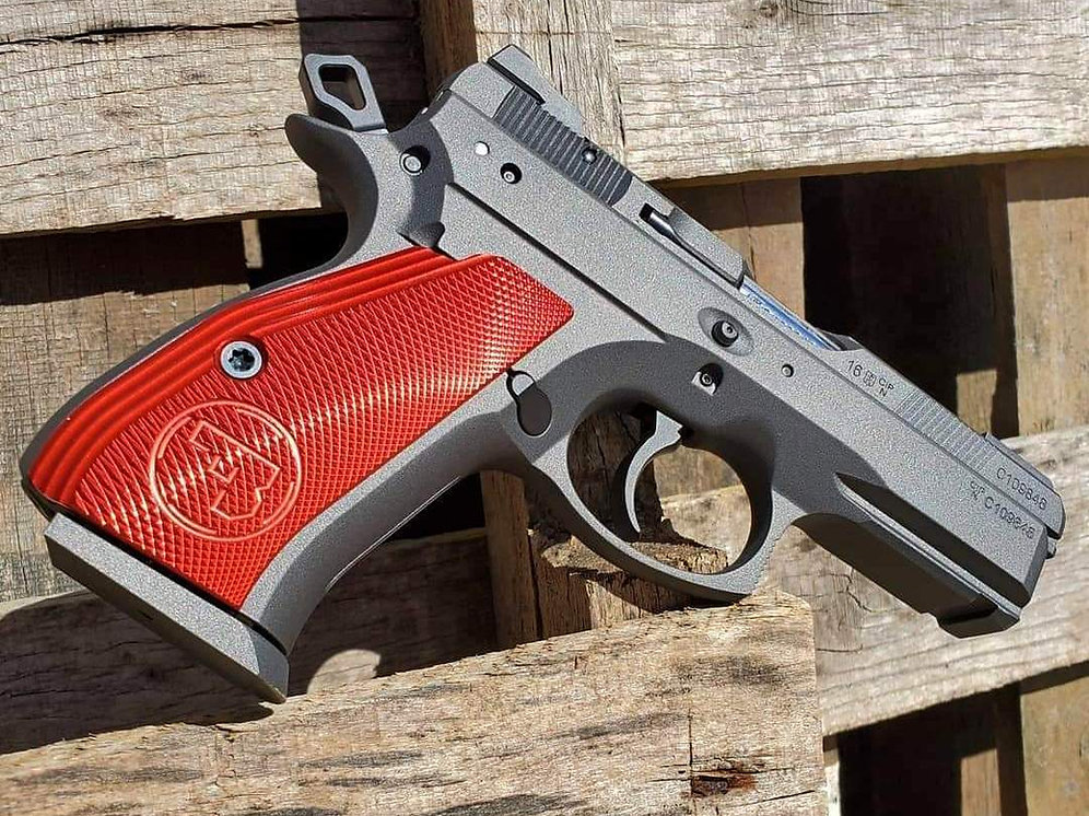 CZ 75 Aluminum Grips - COMPACT - RED | armorycraft