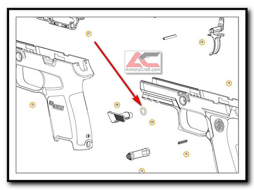TAKEDOWN LEVER O-RING SIG P250 P320