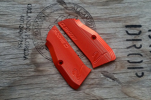 CZ 75 Aluminum Grips - Shadow 2 - LONG - RED