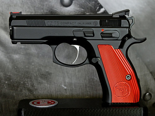 CZ 75 Aluminum Grips - COMPACT - RED