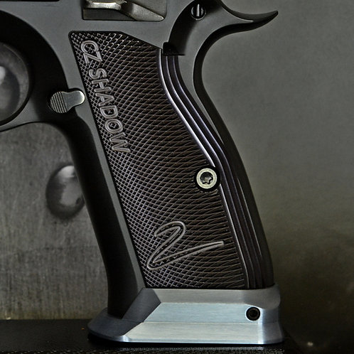 CZ 75 Aluminum Grips - Shadow 2 - SHORT - BLACK