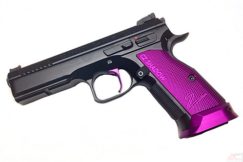 CZ 75 Aluminum Grips - Shadow 2 - SHORT - Purple
