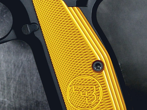 CZ 75 Aluminum Grips - LONG -  YELLOW