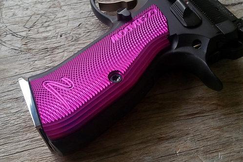 CZ 75 Aluminum Grips - Shadow 2 - LONG - Purple