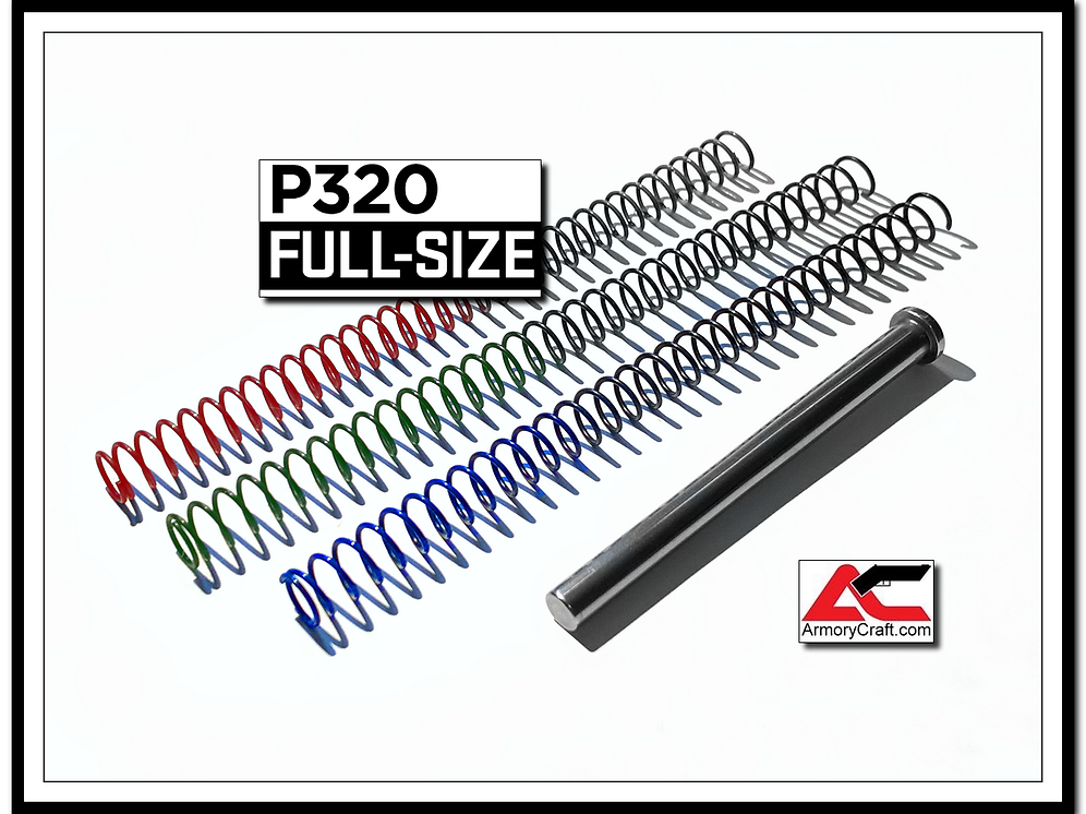 P320 / P320 X5 Legion-style Solid Guide Rod & Recoil Spring Tuning Kit |  armorycraft
