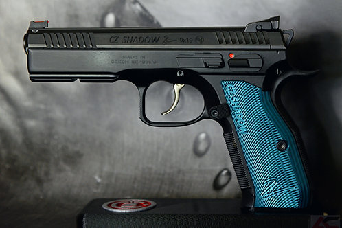 CZ 75 Aluminum Grips - Shadow 2 - LONG- BLUE