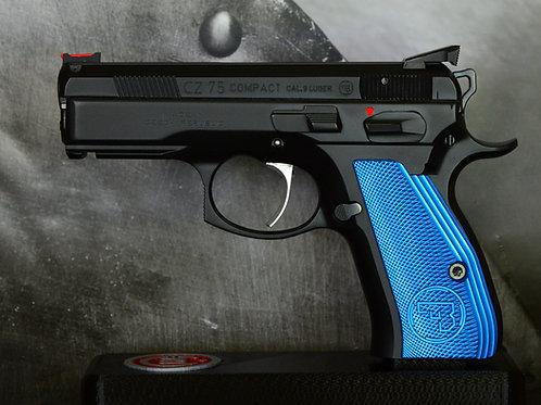 CZ 75 Aluminum Grips - COMPACT - Blue