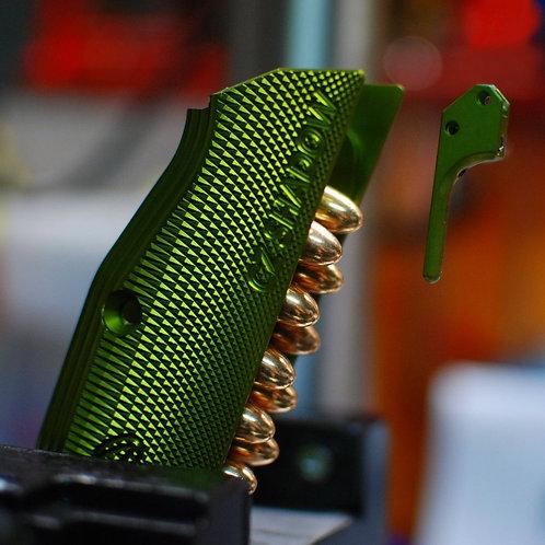 CZ 75 Aluminum Grips - Shadow 2 - LONG - Green